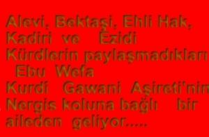 Ebu Wefayê Kurdî,   Gavanî Aşireti, Yarsanlar, Aleviler, Êzîdîler vs