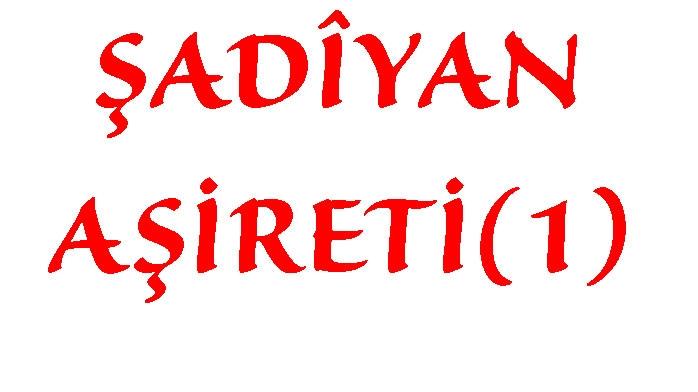 ŞADÎYAN AŞİRETİ(1)