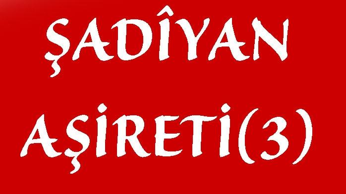 ŞADÎYAN AŞİRETİ(3)