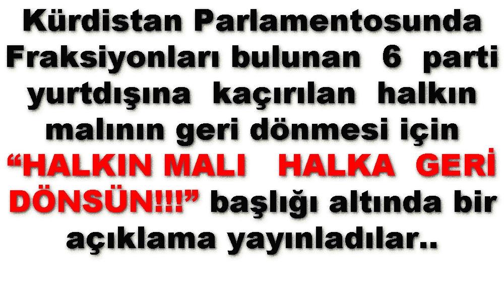 """""""HALKIN MALI   HALKA GERİ DÖNSÜN!!!"""""""