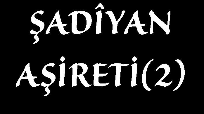 ŞADÎYAN AŞİRETİ(2)